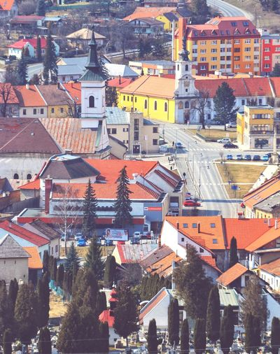 Slovakia City Cityscape Full Frame Town Aerial View Roof Crowded High Angle View Architecture Building Exterior TOWNSCAPE Housing Settlement Tiled Roof  Human Settlement Old Town Residential Building Bell Tower Row House Residential District Residential Structure Rooftop Townhouse Urban Skyline