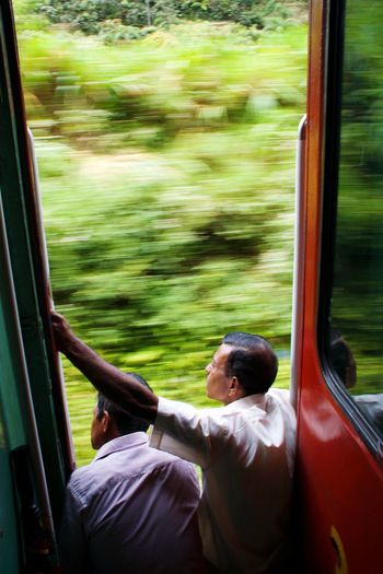 Only seats with a view Sri Lanka Travel Train Tracks Train Trip Kandy Ella Beauty In Nature View Seat Two People Subway Train