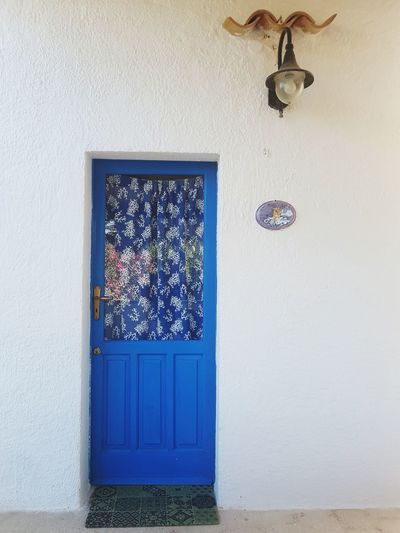 Door Doorway Blue Lamp Streetphotography Window Hanging Door Architecture Close-up Built Structure Entryway Entrance Decoration Front Door