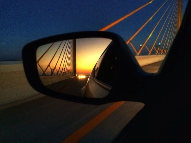 Reflection Tadaa Community On The Road Sunrise A rare moment for me... Catching a sunrise!! (Skyway Bridge Tampa/ St Pete, FL)