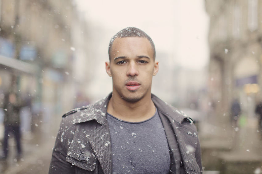 Buxton in the Snow Adult Adults Only City Close-up Cold Temperature Day Focus On Foreground Front View Handsome Nature One Man Only One Person One Young Man Only Only Men Outdoors People Portrait Real People Snow Snowflake Snowing Warm Clothing Weather Winter Young Adult