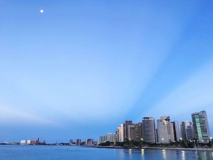 Beautiful sky in Fortaleza 😍 Fortaleza - CE / BRASIL Water Architecture Building Exterior Built Structure Sky City Building Sea Nature Outdoors