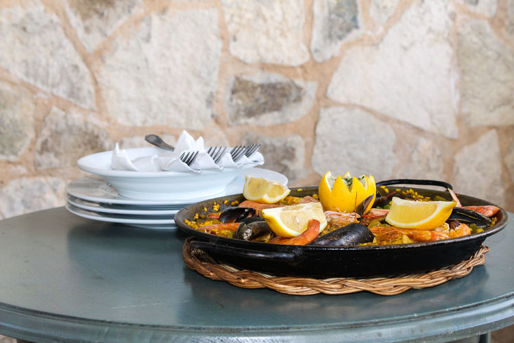 Paella Palma De Mallorca Rice SPAIN Close-up Food Food And Drink Kitchen Utensil Passion For Food Plate Ready-to-eat Sea Fruits Spain Food Still Life Table Typical Dutch