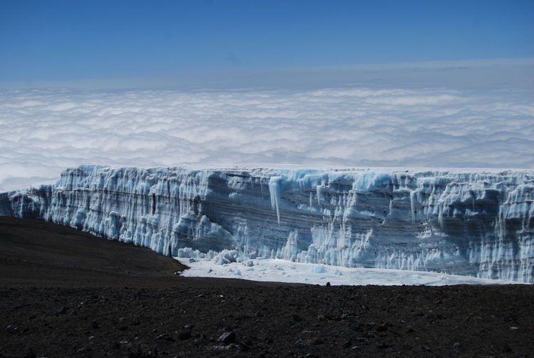Kilimanjaro Glacier Nature Nature_collection Glacial Clouds Clouds And Sky Volcano Volcanic Landscape Glacier Glaciers Africa Hiking Landscape Landscape_Collection Landscape_photography EyeEm Best Shots EyeEm Scenic View Peak Water Snow Cold Temperature Frozen Water Winter Mountain Beach Ice Frozen Snowcapped Mountain Volcanic Crater Hiker Go Higher