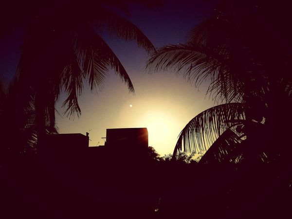 Sun behind d house....!!!! Outdoors Night