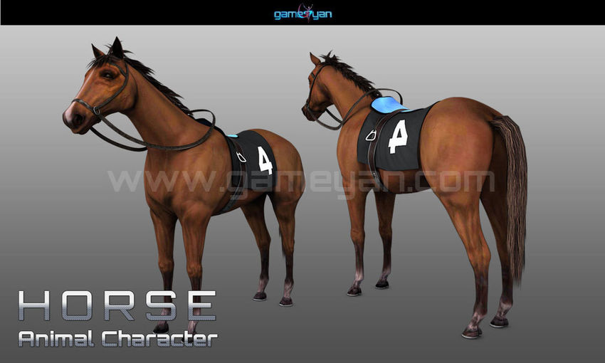 3D Horse Animal Character Modelling With GameYan Character Design Companies - Los Angeles, USA 3d Animal 3d Model Animation Character Modeling And Rigging Low Poly Models Domestic Domestic Animals Horse Livestock Mammal Modeling Two Animals Zbrush