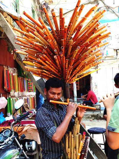 Up Close Street Photography Bamboo Street Vendor Nepal