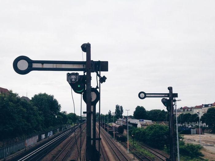 View of railway signals