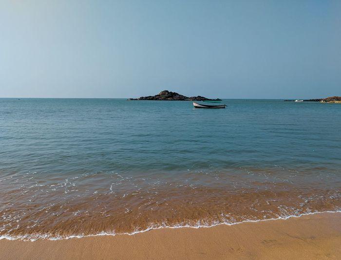 On Beach Water Sea Clear Sky Beach Sand Summer Idyllic Sky Horizon Over Water Landscape Seascape Lagoon Coast