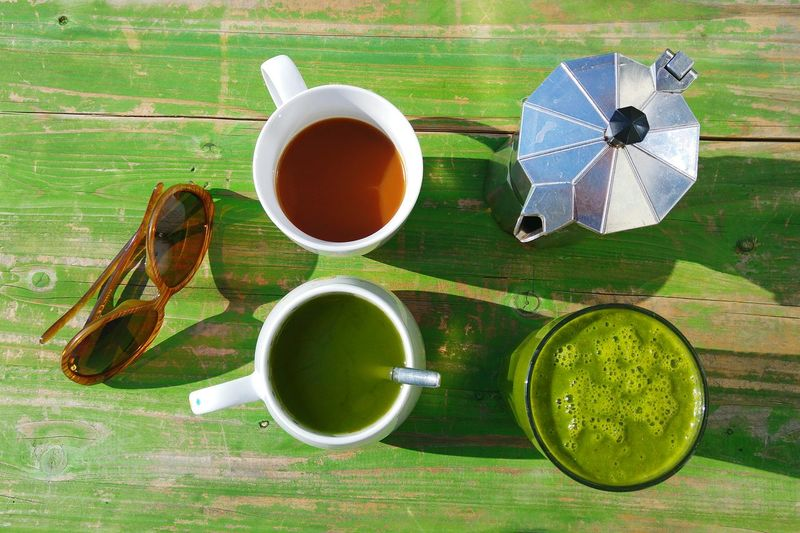 Good Morning Hello World My Breakfast This Morning Breakfast Green Smoothie Green Tea Coffee Matcha Tea Frühstück Sunglasses My Equipment for Sunny Balkony Sunny Day For You My Favorite Breakfast Moment Grün Green Green Green!  Green Home Is Where The Art Is Handmade For You Women Around The World Visual Feast Live For The Story Food Stories Love Yourself