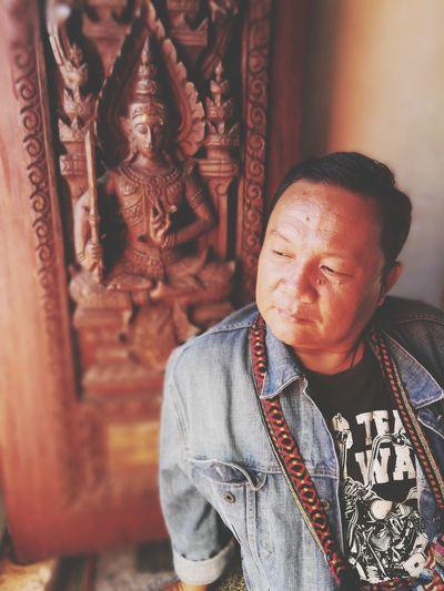 Portrait Men Place Of Worship Spirituality Shaved Head Religion