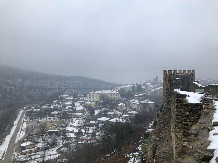 Tsarevets Fortress Veliko Tarnovo Yantra River Tsarevets Tsatevets Fortress Architecture Cold Temperature Building Exterior Winter Snow Built Structure Weather