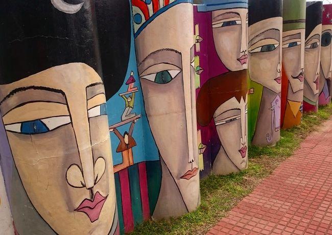 Uruguay Streetart Paintings Coulourful Joyful Colours