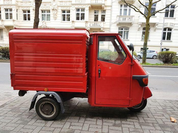 Red Outdoors Day No People Car Day Street Red CarGERMANY🇩🇪DEUTSCHERLAND@ Litten Van Little Car
