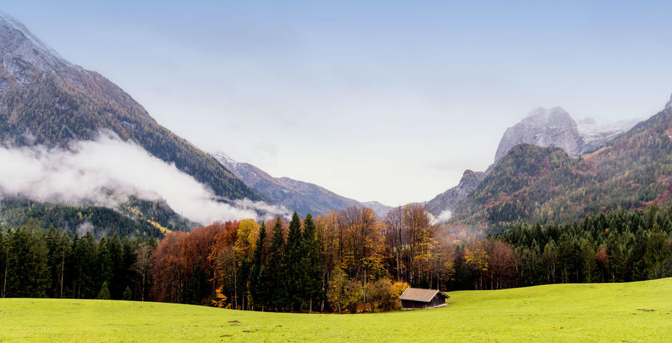 Grainau, Germany Beauty In Nature Clear Sky Day Golf Golf Course Grass Green - Golf Course Landscape Mountain Mountain Range Nature No People Outdoors Scenery Scenics Sky Tee Tranquil Scene Tranquility Tree Water