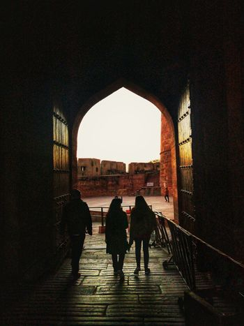 Silhouette At The Gate EyeEm Best Shots Gpmzn Shot With A Leica Leica Photography. Dramatic Light Mughal Architecture Agra Fort Entrance Silhouette Archway Passage Historic Outline Sunset City Gate