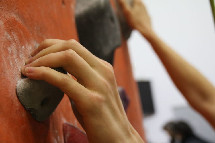 hand Visual Creativity Adult Adults Only Climbing Climbing Wall Close-up Day Finger Hand Human Body Part Human Hand Indoors  Lifestyles People This Is My Skin Be Brave