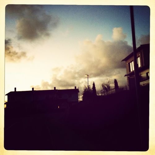 On our way from school to the sea one November afternoon in Gothenburg Landscape