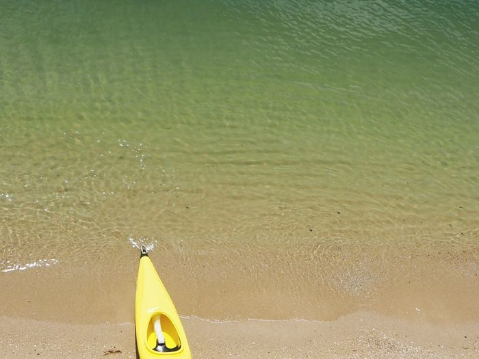 Kayak Beach Yellow Simplicity Great Outdoors Nature 100 Days Of Summer Paint The Town Yellow