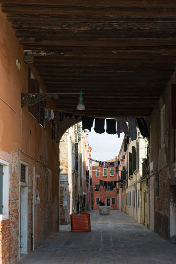 Architecture Built Structure Building Building Exterior Direction The Way Forward No People Empty Day City Residential District Narrow Outdoors Old Arch Diminishing Perspective Arcade Absence Town Architectural Column Ceiling Alley Long Venice, Italy Loundry Street