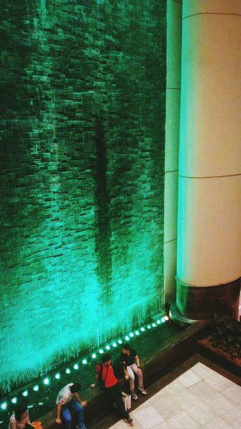 Water Feature. Water Feature Cityscape Attemptsatphotography Asuszenfone2 Green Lights Water Urban Waterfalls