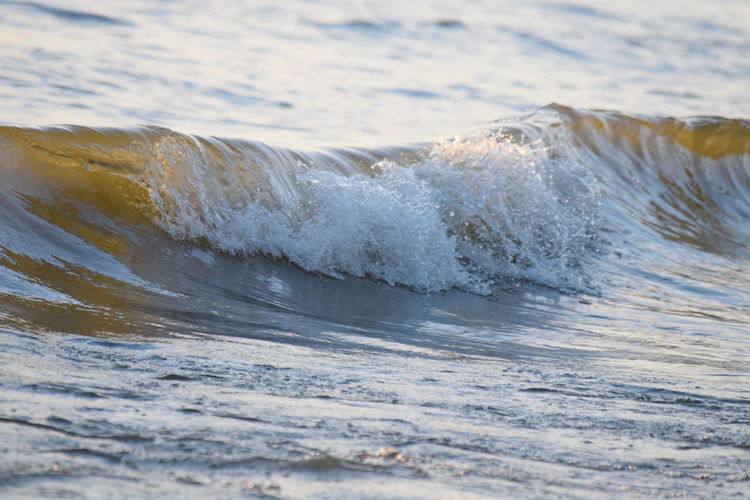 High angle view of wave splashing in sea