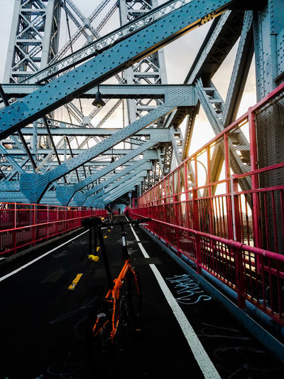 Architecture Bike Bridge - Man Made Structure Built Structure City City Life Connection Cycling Day Diminishing Perspective Engineering Mode Of Transport No People Outdoors Public Transportation Railroad Track Sky The Way Forward Transportation Travel Destinations Vanishing Point