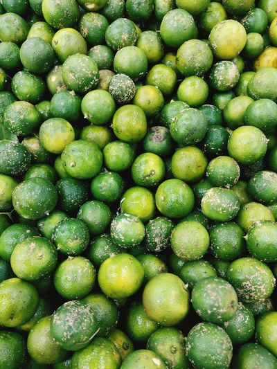 Full frame shot of blueberries in market