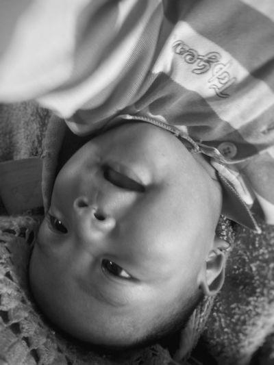 Close-up One Person Child Childhood Babyboy Baby Babyhood Bw Blackandwhite Mono Monochrome Monochrome Photography Portrait Baby Portrait Child Portrait EyeEm Portraits This Is Family