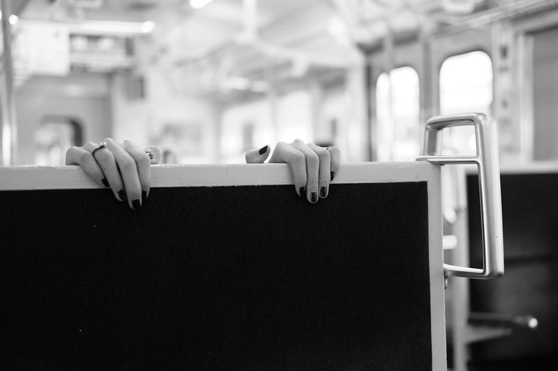 Blackandwhite Monochrome Hand Train Fingers