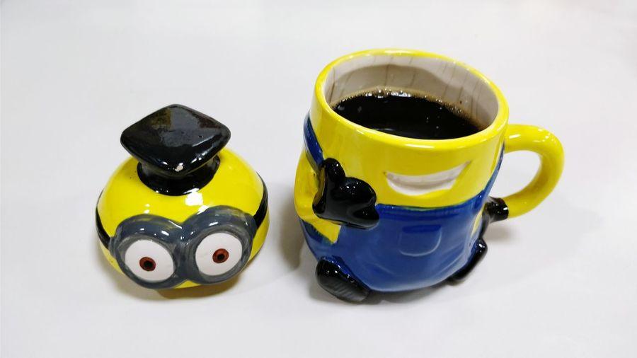 EyeEm Selects Drink Indoors  Coffee Cup Coffee Mug Coffee Time Minion Love Paint The Town Yellow
