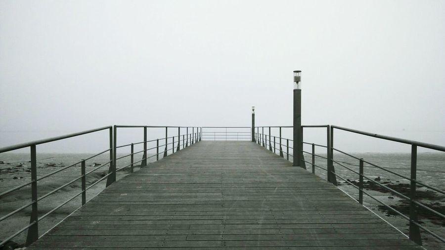Pier on sea