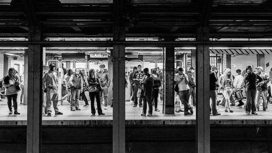 Break The Mold Subway Subway Station New York New York City Lexington Ave Blackandwhite Waiting EyeEmNewHere
