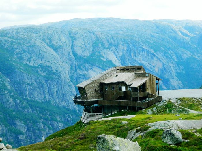 Built Structure Architecture No People Sky Day Mountain Travel Norway Beauty In Nature