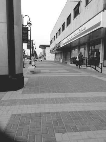 Riyadh Sidewalk Stree Photography Black & White