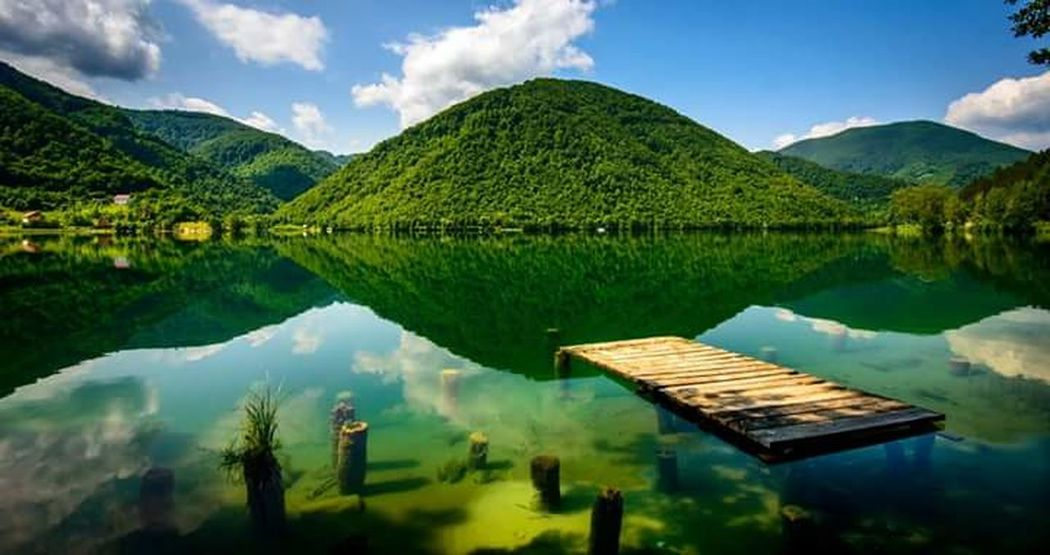 Nature Photography Lake Mountain Beautiful Nature Coulds And Sky Relaxing Bosna ♡