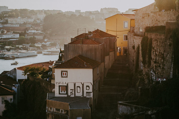 Architecture Building Exterior City Building High Angle View Day Sky Cityscape Community House Town TOWNSCAPE Residential District Portugal Porto Travel Destinations Sunlight Shadow Sunset River Land Capture Tomorrow