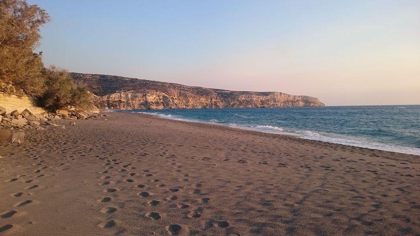 Sea Sand Blue Beauty In Nature Crete Komos Beach Greece
