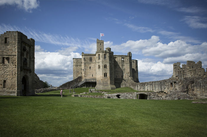 Ancient Ancient Civilization Architecture Building Exterior Built Structure Day Daylight Grass History No People Northumberland Outdoors Sky Warkworth Castle