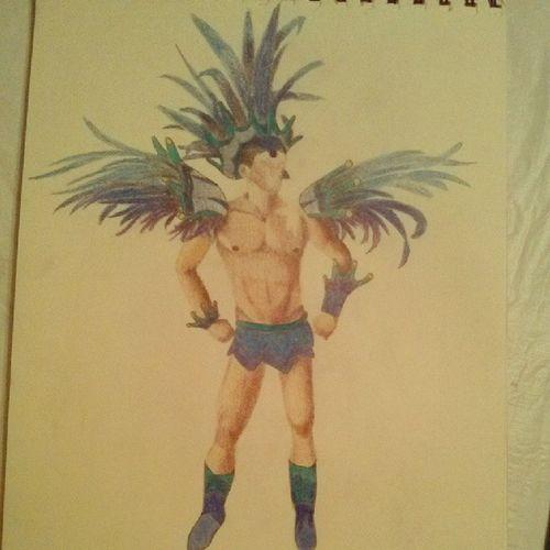 Finished!! Art Color Samba Dancer Sexy Man