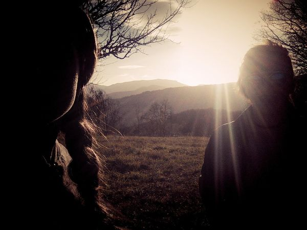 Two Sisters Girls Hairstyle Nature Sunny☀ 🌞sun Perfectshot Relaxtime Photography Time Trees And Nature Hills And Valleys Nature_collection Bosnia And Hercegovina Jajce