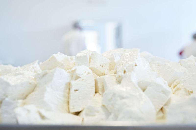 Close-up of white cake