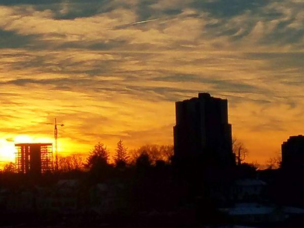 (2/18/2018) Sunset Dramatic Sky Cloud - Sky Sky Silhouette Urban Skyline Architecture Scenics No People City Cityscape