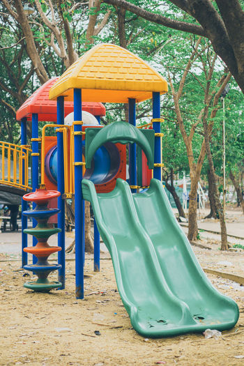 View of playground in park