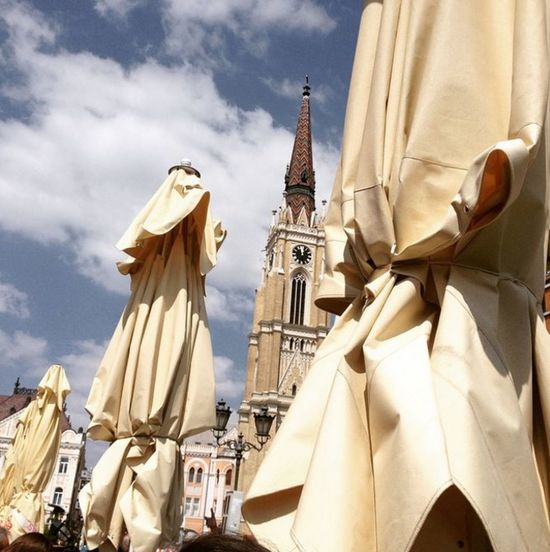Cathedral in Novi Sad, Serbia. Highest catholic church in northern Serbia. Architecture Blue Built Structure Church City Cloud Cloud - Sky Day Low Angle View Outdoors Place Of Worship Religion Sky Spirituality Tourism Travel Destinations