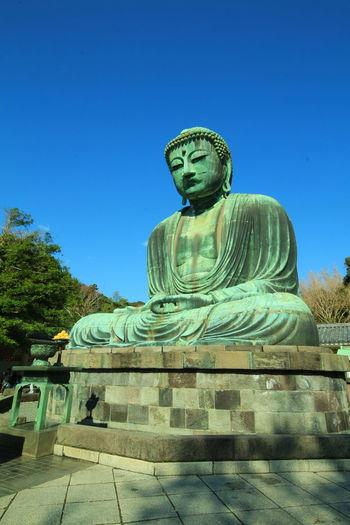 Sculpture Sky Statue No People Outdoors Clear Sky Day Big Buddha Japan Kamamura