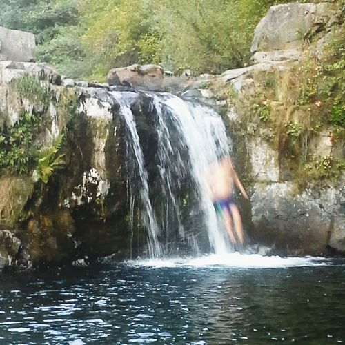 Jumping into Sunset Falls 2015 Waterfall Water Motion Blurred Motion Stream - Flowing Water Nature River River Collection Action Shot  Action Photography Action Recreational  Recreational Pursuit Recreation  Diving Into Water Jumping Into Water Jumping Off! Jumping Down Falling Into Water Pacific Northwest Beauty Pnwnaturescapes Pacific Northwest  Sommergefühle Mix Yourself A Good Time Done That Lost In The Landscape Rethink Things Be. Ready. The Creative - 2018 EyeEm Awards