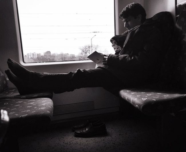Reading Shoes Commuting First Eyeem Photo Streetphoto_bw Traveling