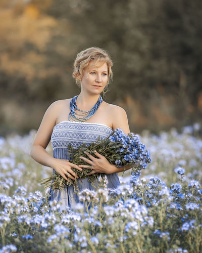Phacelia Lady EyeEm Best Shots Popular Model Popular Photos EyeEm Selects Colorful Color Happy Woman Girl Family Lovely Flowers Flower Walk Colors Beauty In Nature Blue Portrait Women Beautiful Woman Water Summer Standing Beauty Happiness Blond Hair Smiling Flowing Water Growing