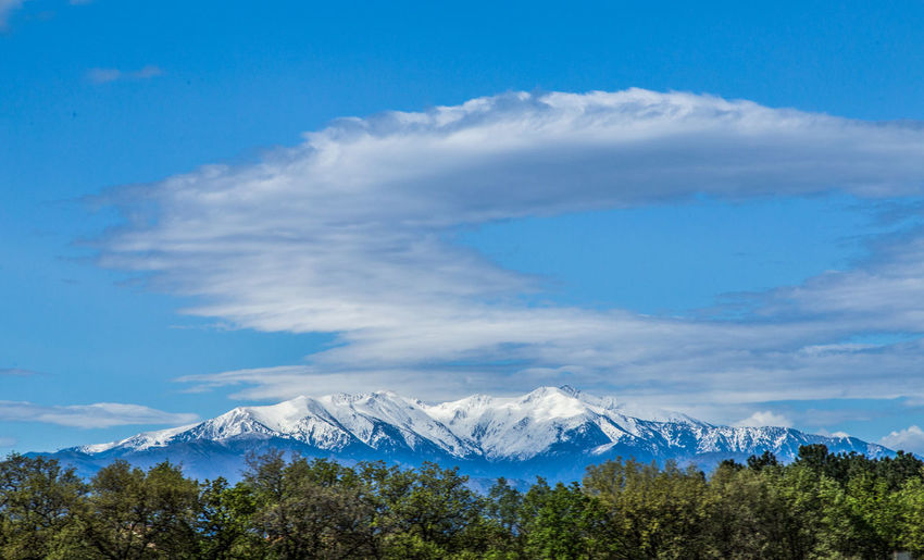 Where I live Blue Sky Canigou Mountain Landscape_photography Landscapes With WhiteWall Snow Capped Mountains